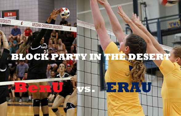 Photo for ERAU Squares Off With BenU in Volleyball Showdown