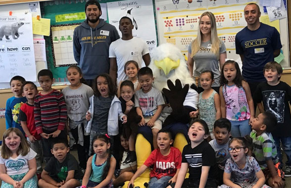 Photo for LSU Student-Athletes Participate in Reading Programs